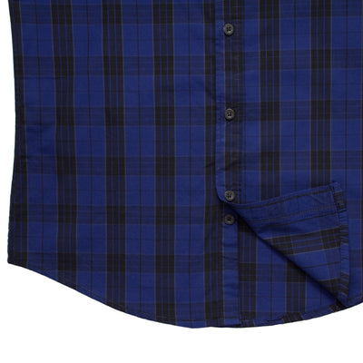 Fred Perry Blue and Black Checkered Casual Shirt - Deeds.pk