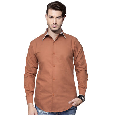 Funkys Tipped Collar Long Sleeves Casual Shirt - Deeds.pk