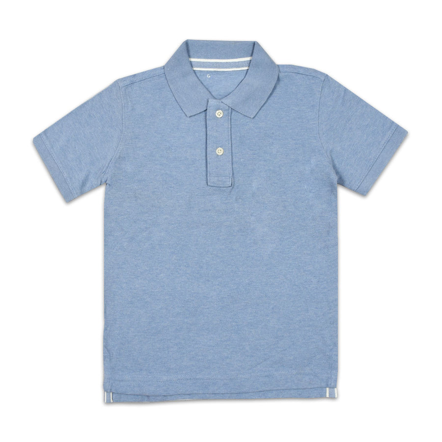 BOYS SKY BLUE PIQUE PRIME POLO SHIRT (3 YEARS TO 12 YEARS)