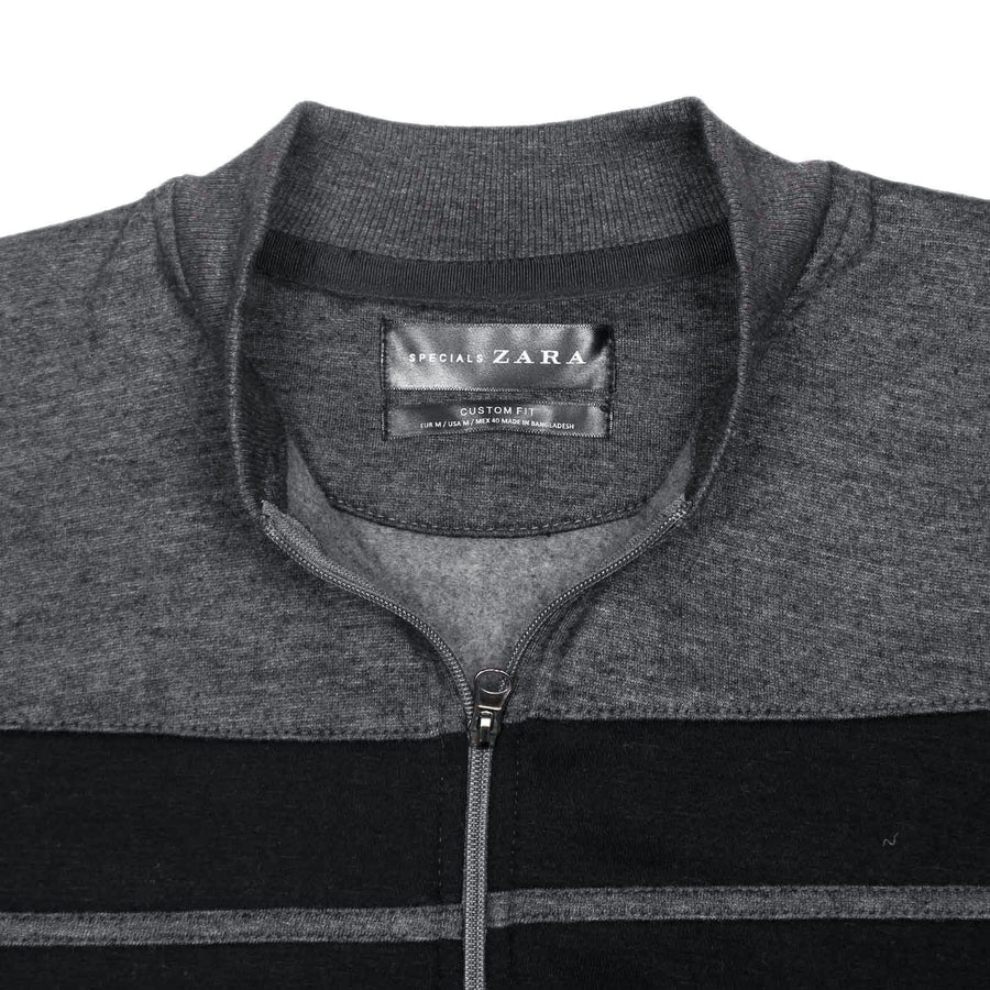 ZR CHARCOAL CONTRAST PANEL BOMBER