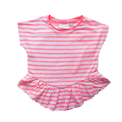 Mango Pink Stripes Top - Deeds.pk