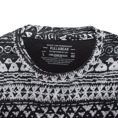 Old Age Pattern Black T-Shirt