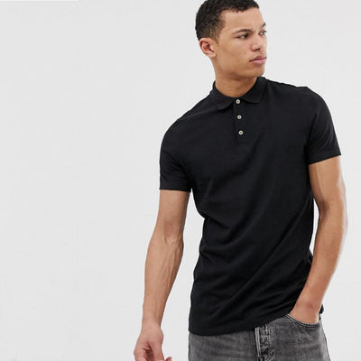 BH Modern Fit Plain Pique Polo Shirt - Deeds.pk