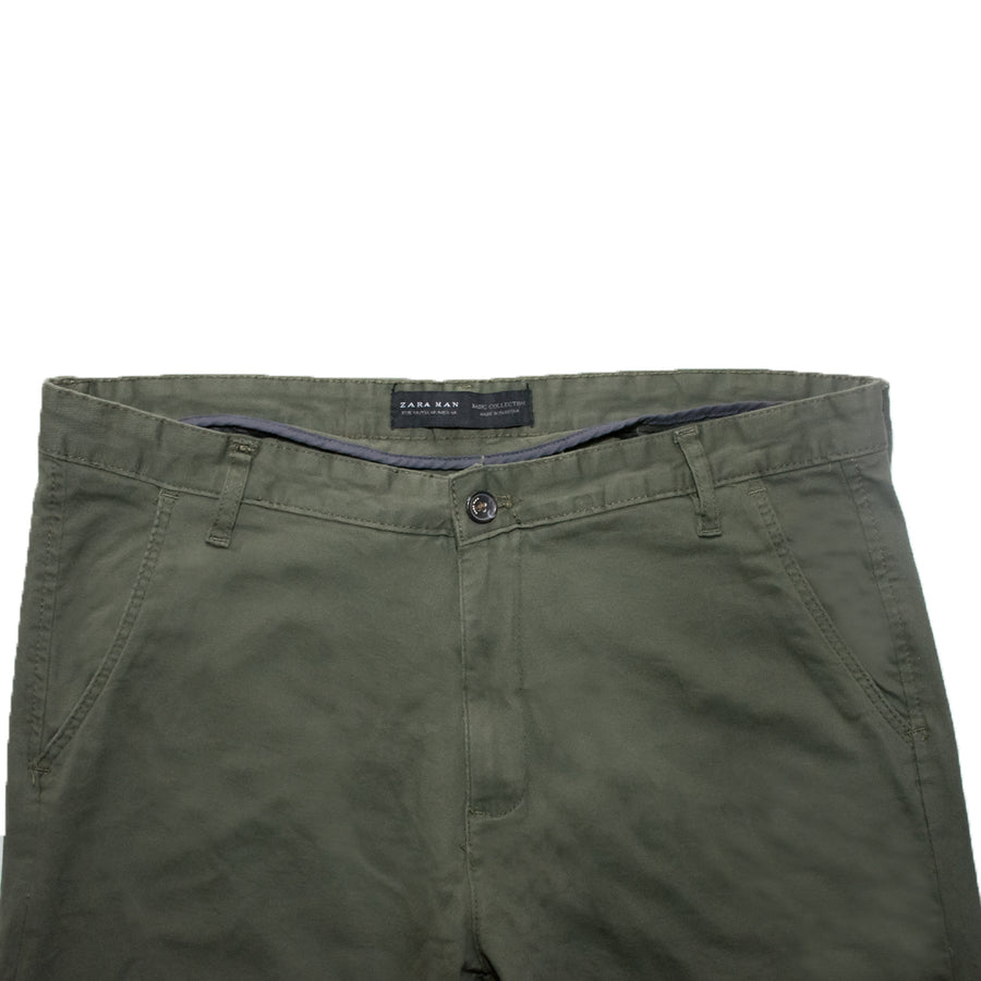 Zara Man Olive Green Trouser