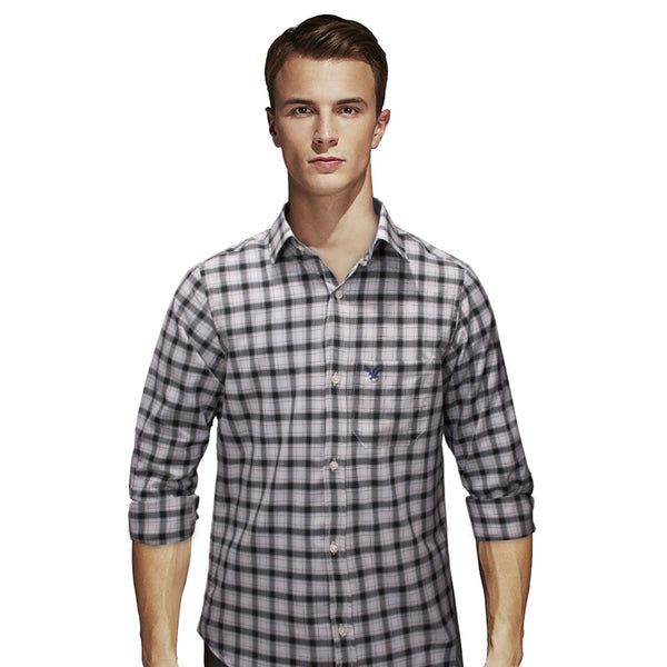 American Eagle Black and White B-Quality Checkered Casual Shirt - Deeds.pk