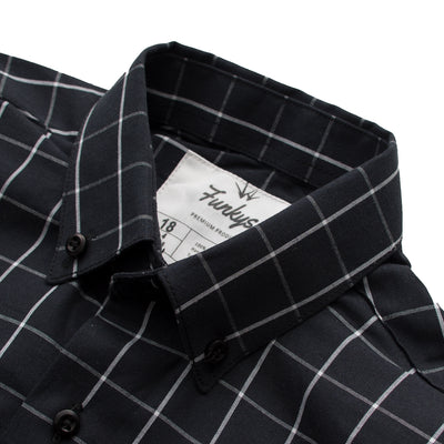 Funkys Boy's Window Pane Check Casual Shirt - Deeds.pk