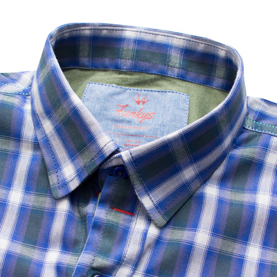 Funkys Boy's Blue Check Casual Shirt - Deeds.pk