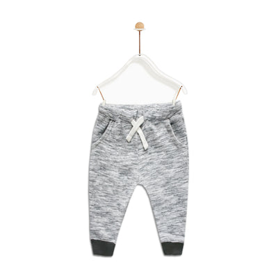ZR Baby Boy Slub Grey Trousers ( 3 MONTHS TO 3 YEARS )