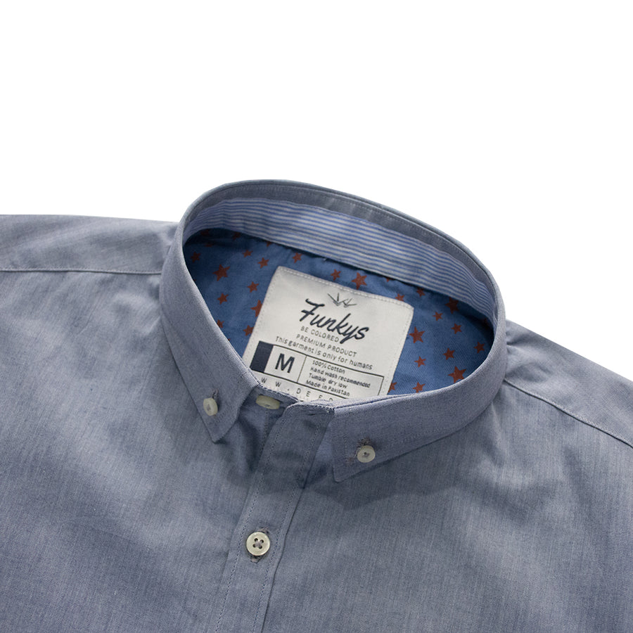 Funky's Light Purple Premium Casual Shirt