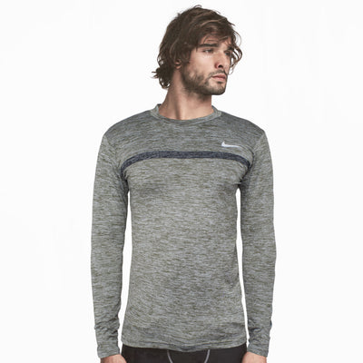 Nike Dry Fit Green Textured Full Sleeves Super Stretch - Deeds.pk
