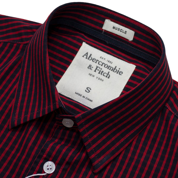 Abercrombie Red Stripes Casual Shirt - Deeds.pk