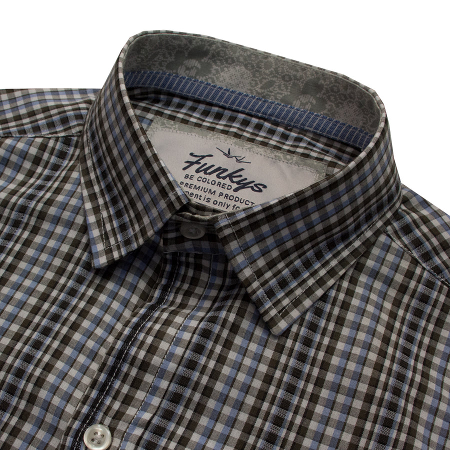 Funkys Vertical Checkered B-Quality Casual Shirt