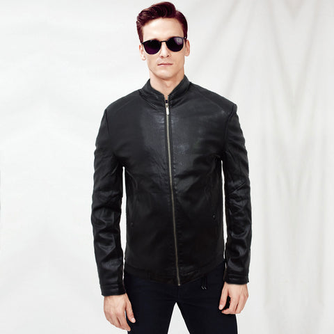 Lion Black Vogue Leather Jacket