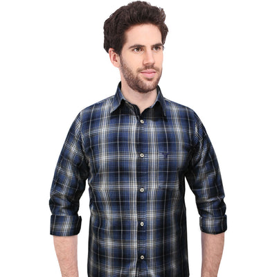 American Eagle Blue Micro Checkered Casual Shirt - Deeds.pk