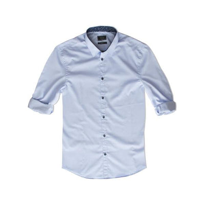 Reserved Blue Long Sleeves Casual Shirt - Deeds.pk