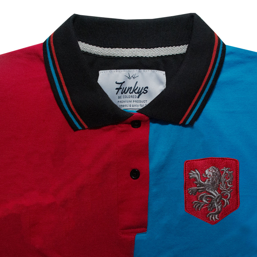 Funkys USA  Contrast Polo Shirt