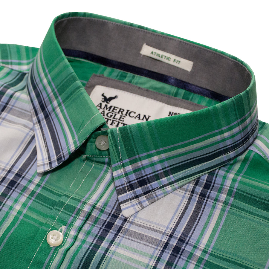 American Eagle Green Checkered Casual Shirt - Deeds.pk