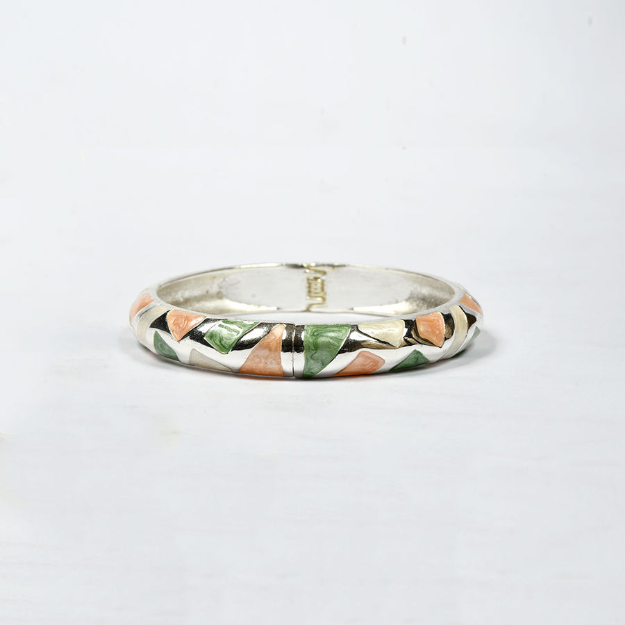 Women Floral Printed Clutch bangle