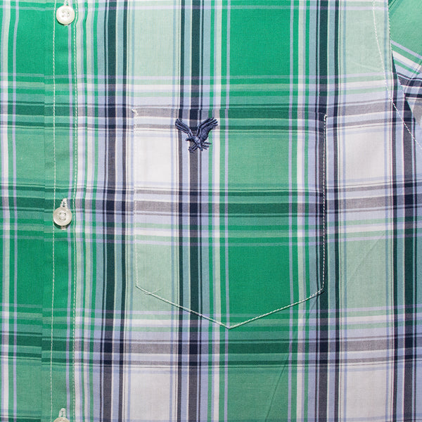 American Eagle Green Checkered B-Quality Casual Shirt - Deeds.pk