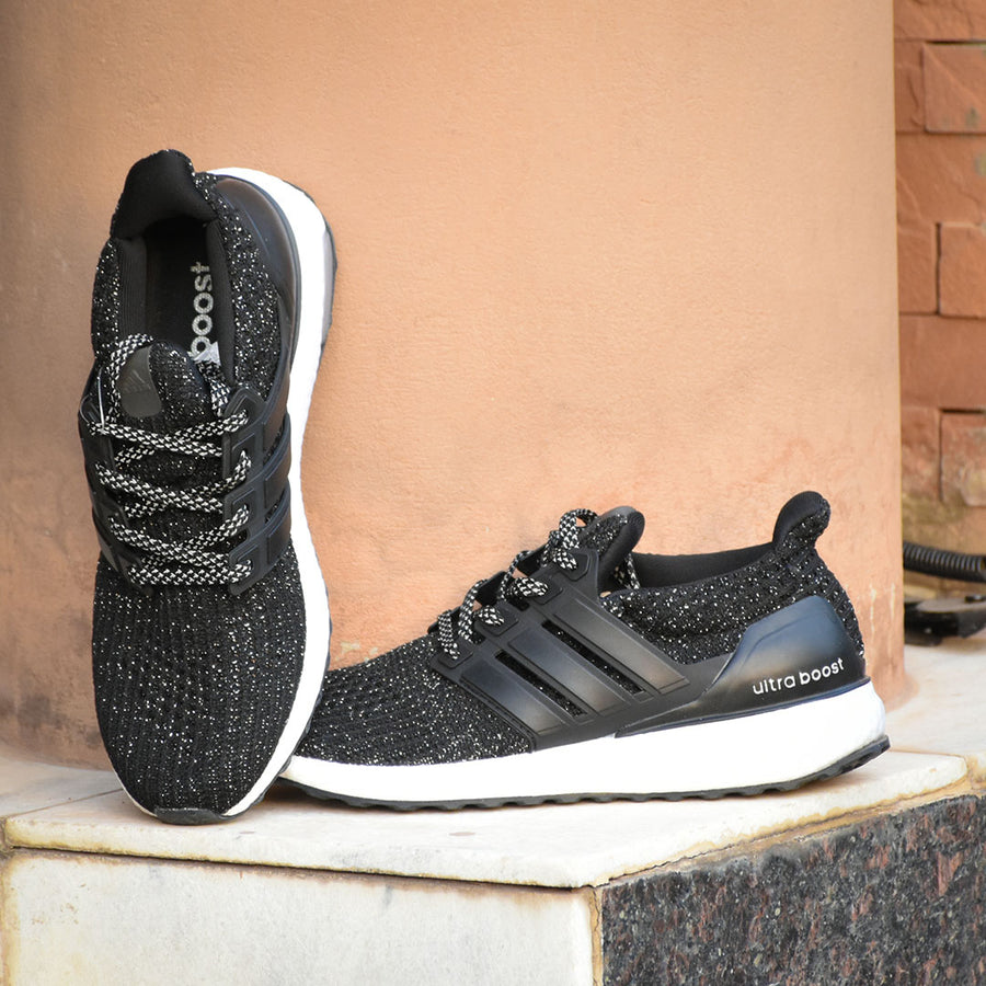 ULTRA BOOST 4.0 BLACK WHITE SPECKLE SHOES