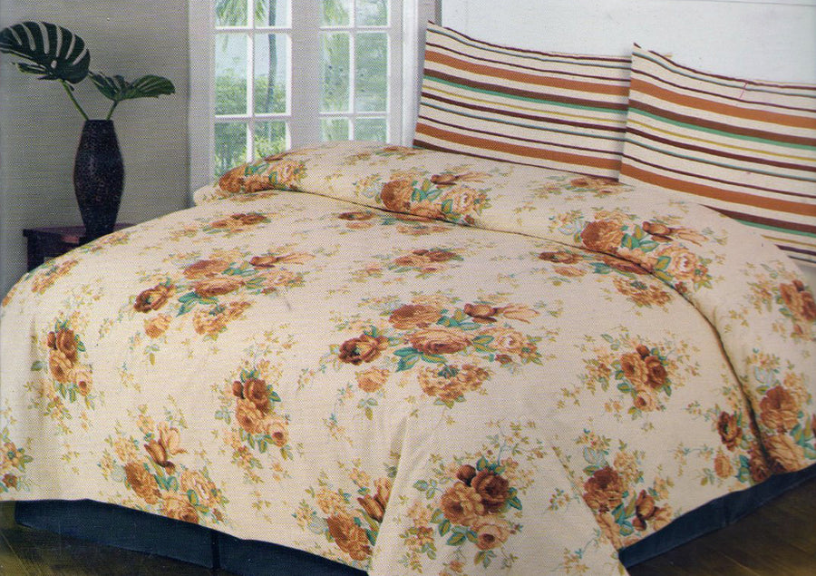 Cotton Concept Skin Floral Double Bed Sheet Set - Deeds.pk