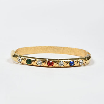 Women Modern Stone Clutch Bangle