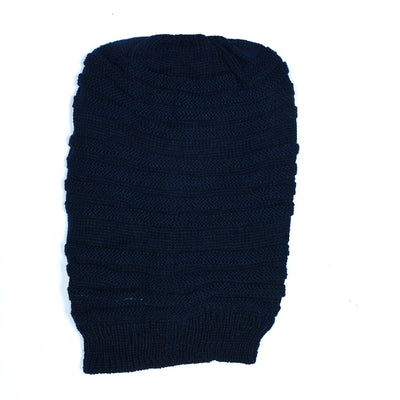 Self Stripe Inside Fur Beanie