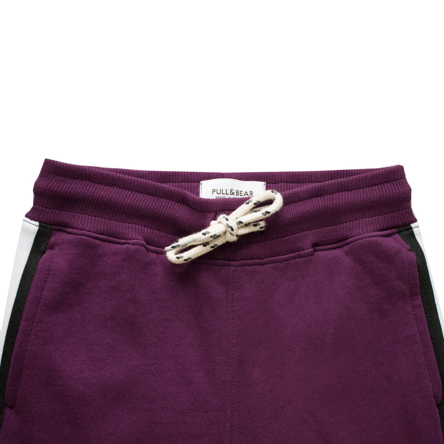 Pull&Bear Dark Purple Side Striped Boy's Trouser