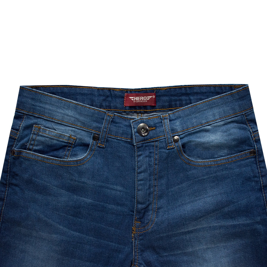 MEDOOX SLIM PATTERN AUTHENTIC FADED BLUE JEANS