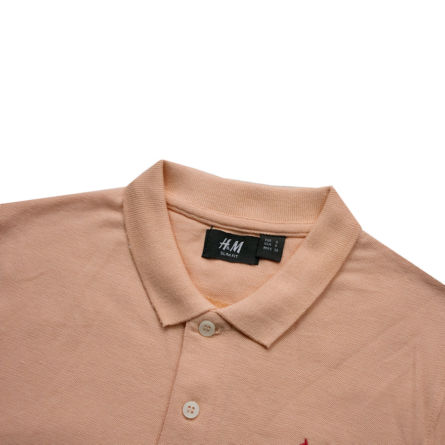 Classic Collar Light Orange Polo Shirt - Deeds.pk