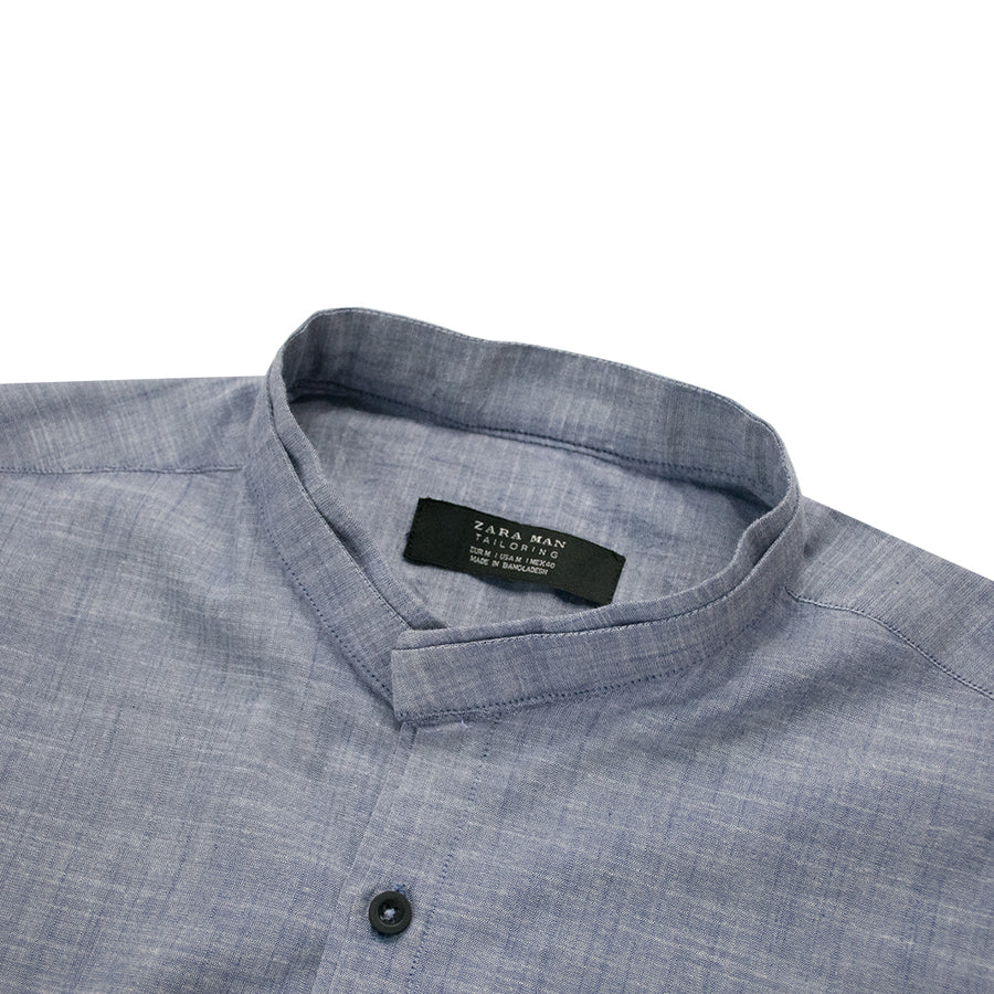 B-Quality Zara Man Classic Light Blue Casual Shirt - Deeds.pk