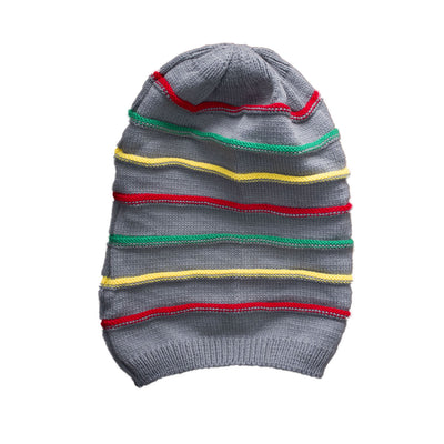 Hipster Colored Stripes Beanie - Deeds.pk