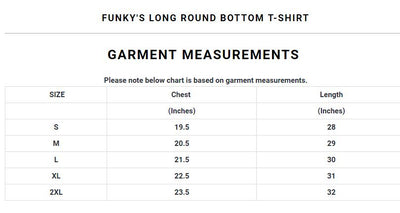 Funky's Long Round Bottom T-Shirt
