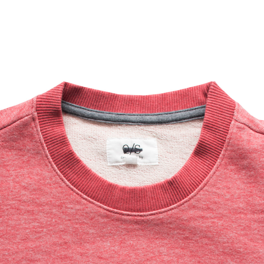 Q/S Long Sleeves Red Marl Sweat Shirt - Deeds.pk