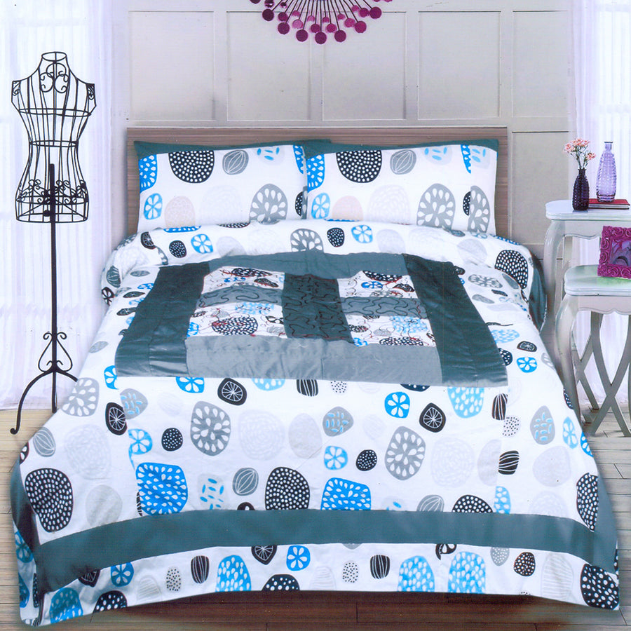 Funky's Random Print Center Patched Bed Sheet