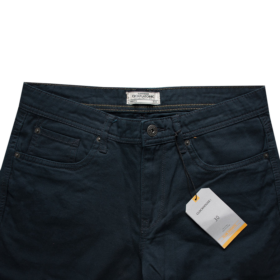 Clock House Dark Navy Normal Rise Slim Shorts - Deeds.pk