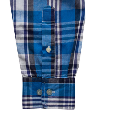 Tommy Hilfiger Button Down Blue Checkered Casual shirt - Deeds.pk