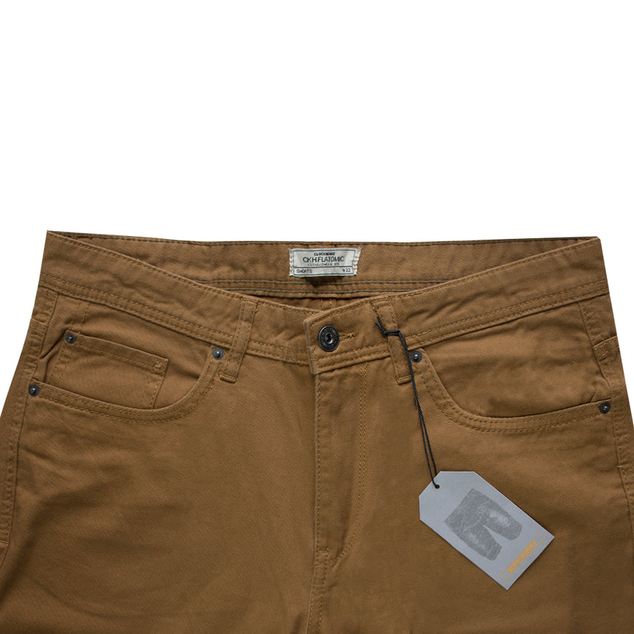 Clock House Dark Brown Normal Rise Slim Shorts - Deeds.pk