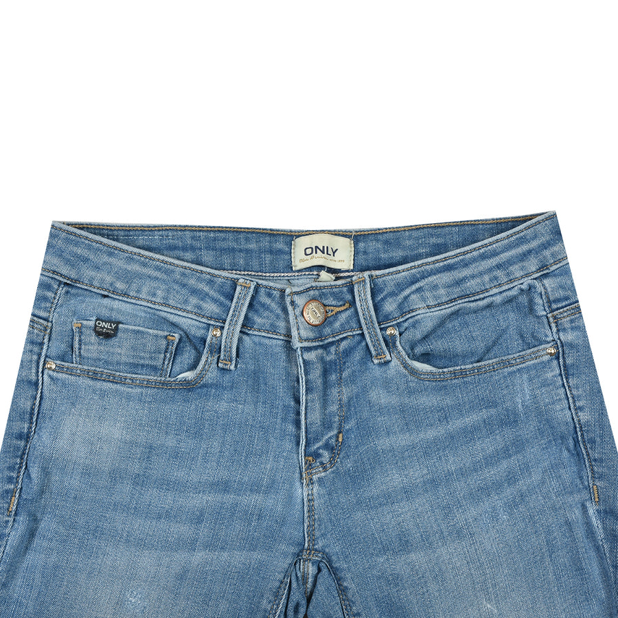 Women Classic Skinny Fit Sky Blue Denim (W28 To 34)
