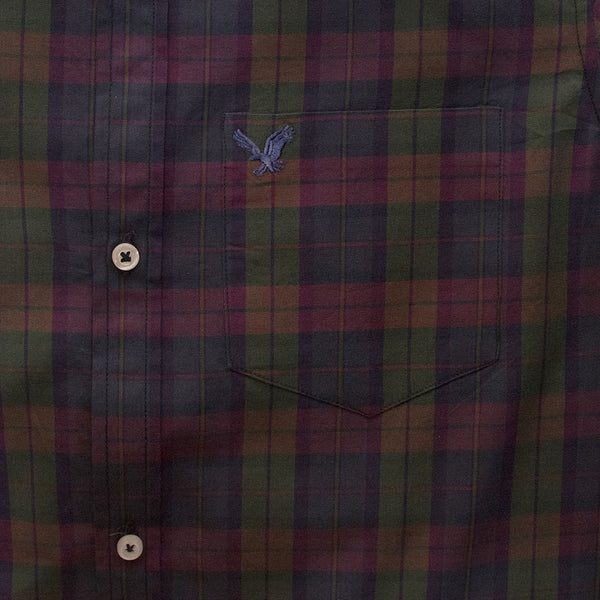 American Eagle Red And Navy Checkered Casual Shirt - Deeds.pk
