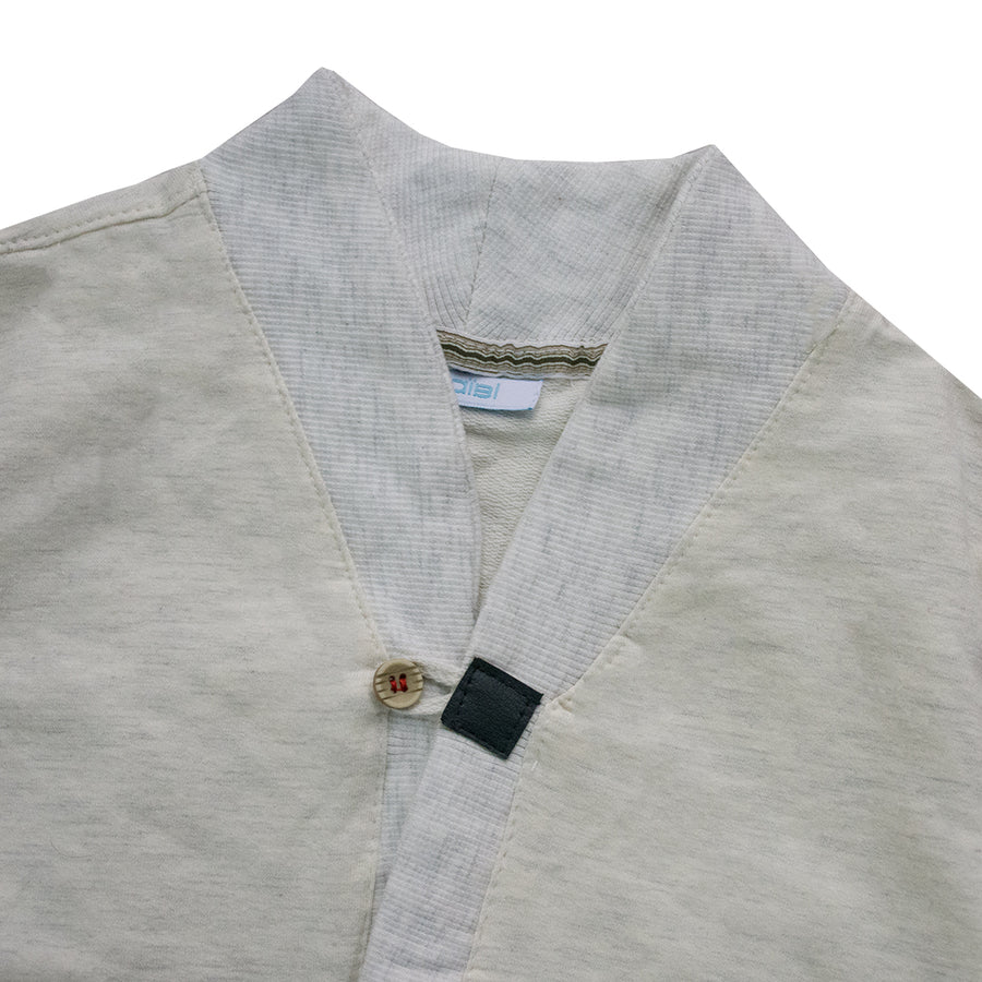 Kid's Off White Double Pocket Cardigan Sweater (12 Months to 4 Years)