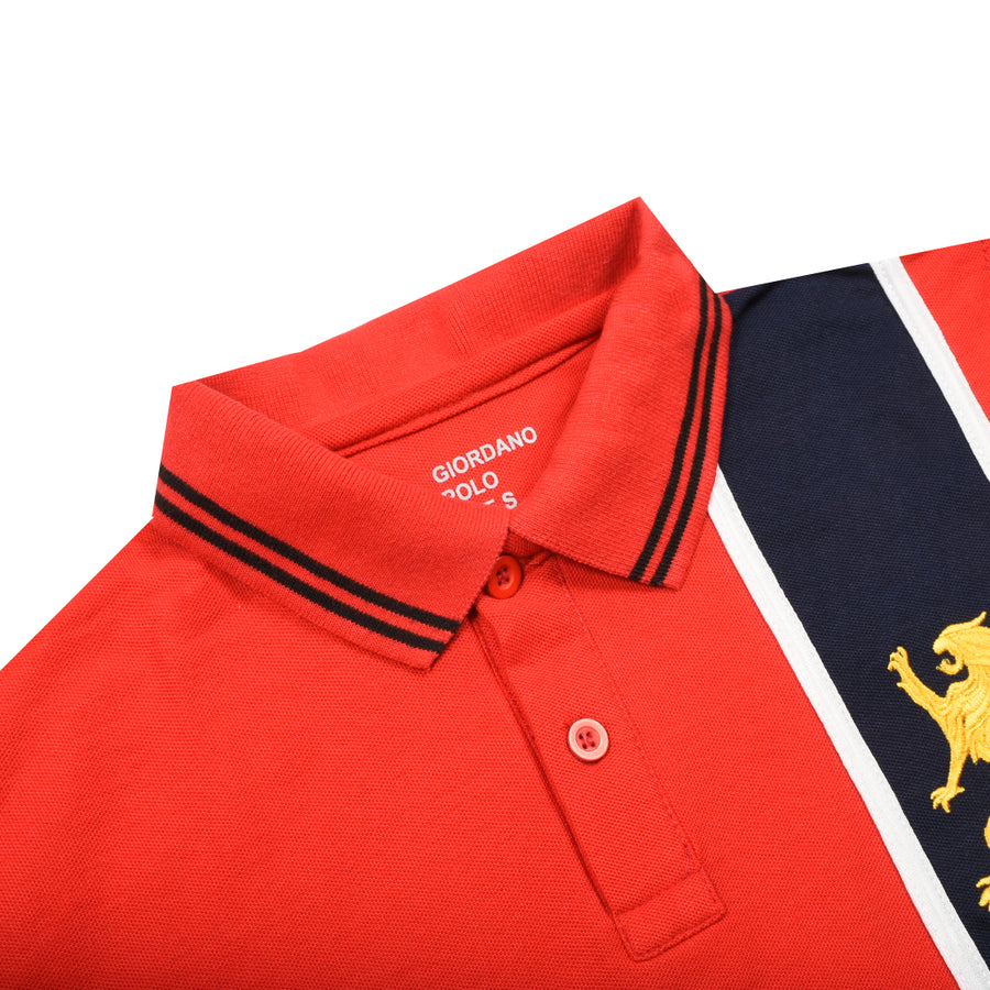 Premium Vertical Navy Panel Polo
