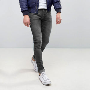 Pull & Bear Grey Skinny Denim