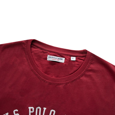Crew Neck Red Printed Logo T-Shirt