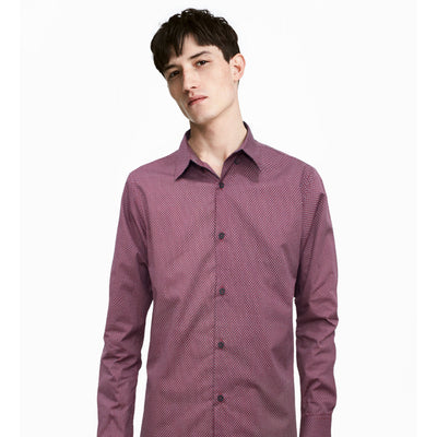 ZR Red Long Sleeves Casual Shirt