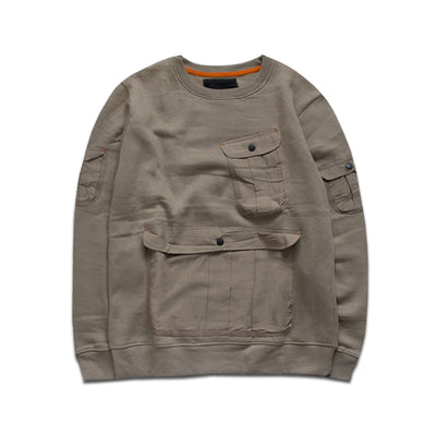 SSTAR Kangroo Pockets Sweat Shirt