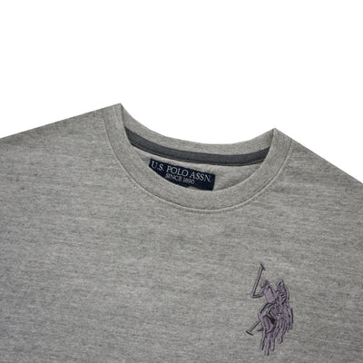 Embroidered logo Grey Sweat Shirt