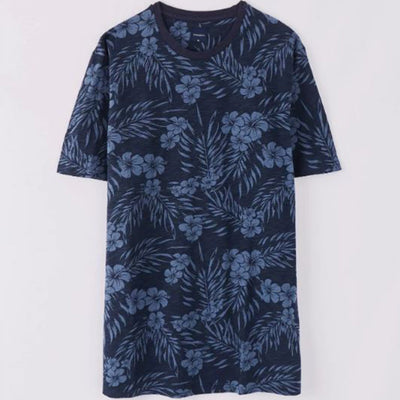 Funky's All Over Printed tropical flower Tee (WITH MINOR FAULT)