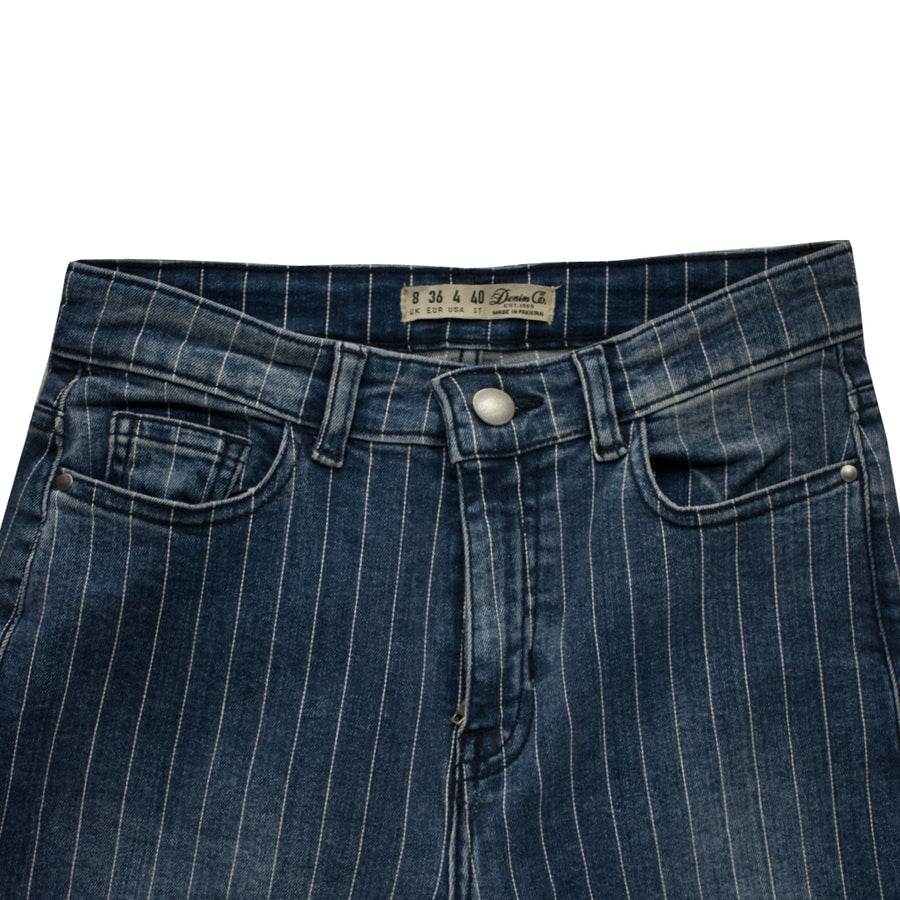 DNM Co. Ladies Vertical Lined Denim