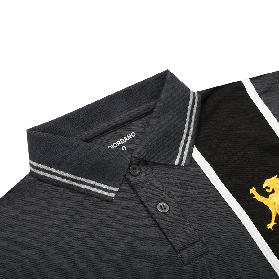 Funky's Premium Vertical Black Panel Polo